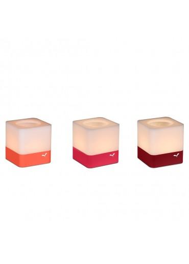 Fermob Windlichter Cuub 3er Set Chili / Capucine / Rose Praline