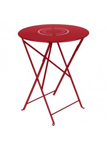 Fermob Tisch Floreal Ø60 cm Mohnrot