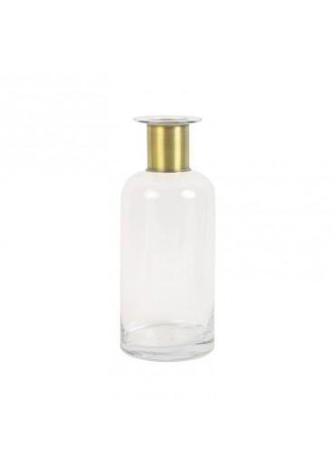 "Glas Vase ""Vimioso"" Messing hoch"