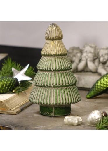 Grün & Form Glas Tannenbaum Rille klein H20 cm