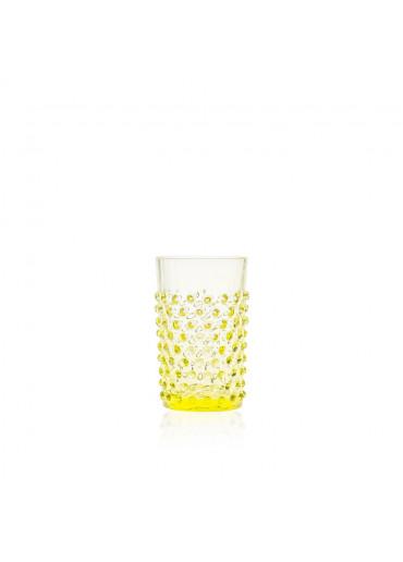 "Trinkglas ""Hobnail"" Zitrone"