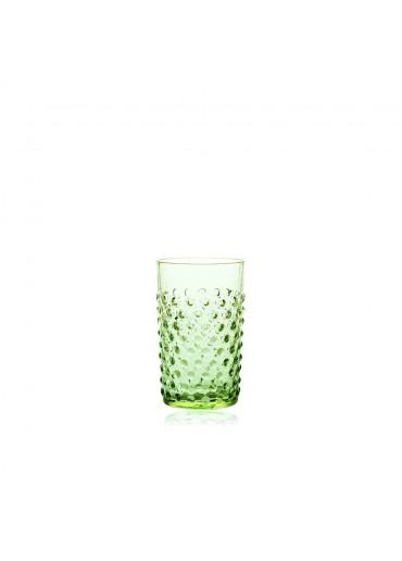 "Trinkglas ""Hobnail"" Apfelgrün"