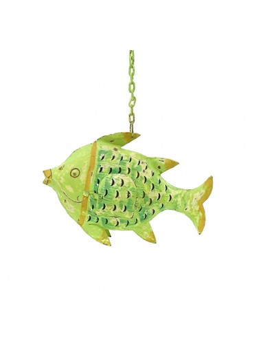 Metall Fisch zum Hängen S grün