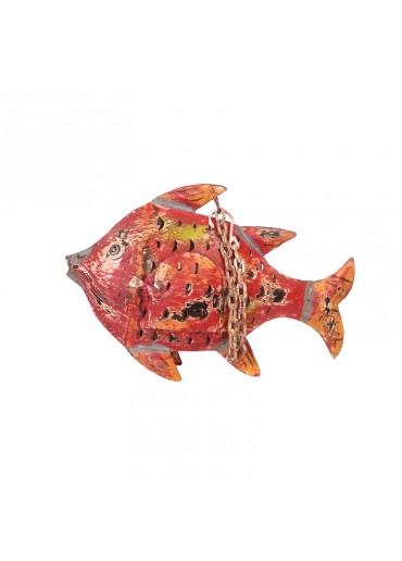 Metall Fisch zum Hängen S rot