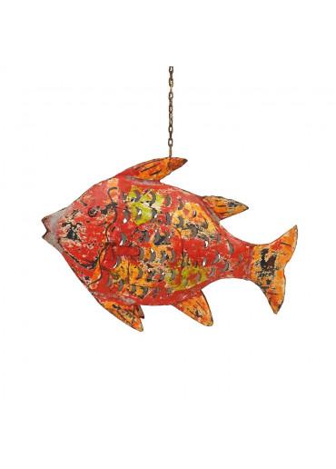 Metall Fisch M rot zum Hängen und Stellen