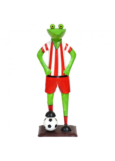 Metall Frosch mit Fußball rot
