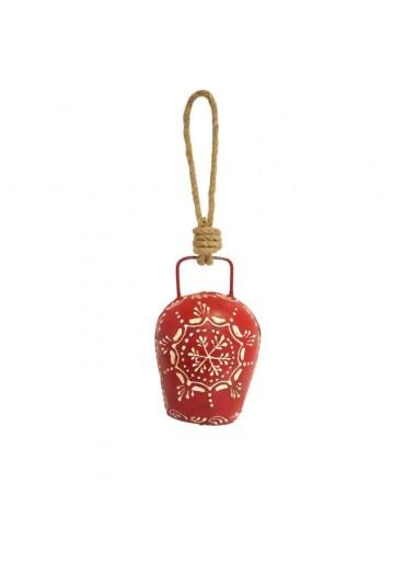 Metall Glocke rot zum Aufhängen