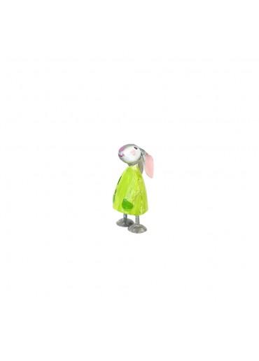 Metall Hase Betty mini apfelgrün H 7,5 cm
