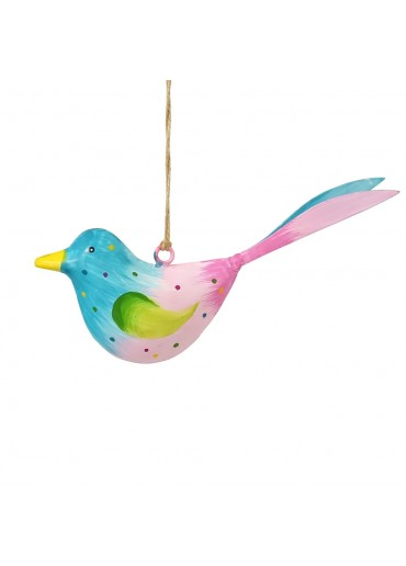 Metall Vogel bunt zum Hängen klein (103670)