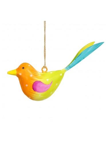 Metall Vogel bunt zum Hängen klein (103673)
