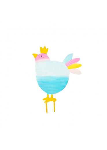 Metall Vogel mit Krone zum Stecken klein