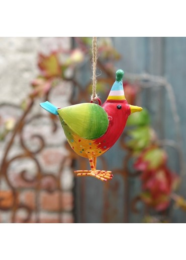 """Metall Vogel """"Rico"""" S rot zum Hängen H10 cm"""