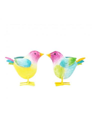 """Metall Vogelkinder """"Gina & Gustav"""" 2er Set"""