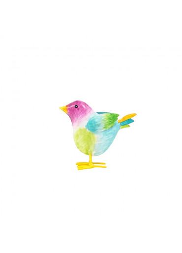 "Metall Vogelkind ""Gustav"" H 9 cm"
