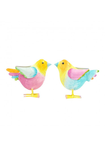 "Metall Vogelkinder ""Rosi & Bert"" 2er Set"