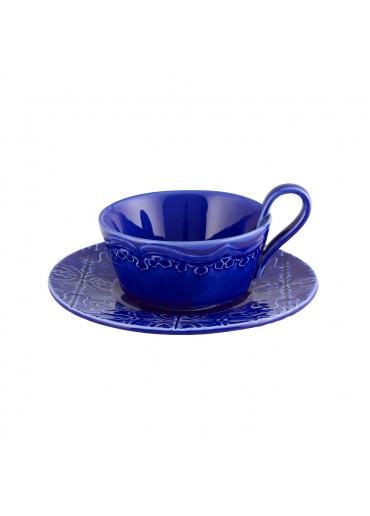 Rua Nova Set Kaffeetasse mit Untertasse Blau