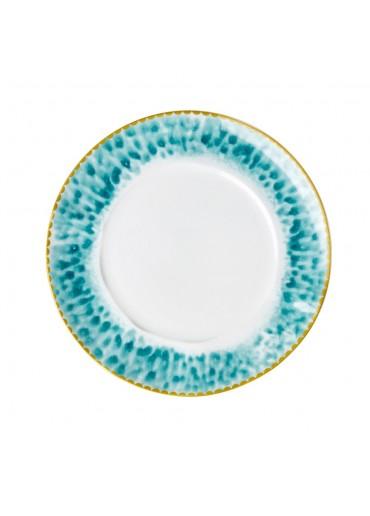 Rice Porzellan Kuchen Teller Glaze-Print Jade