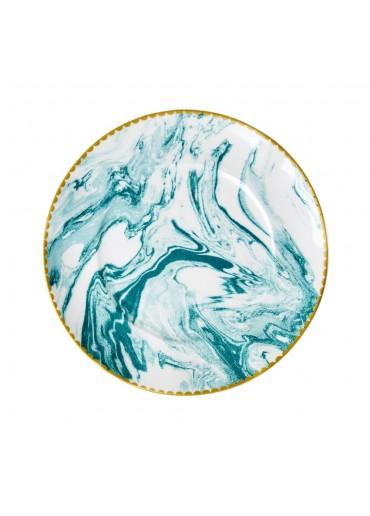 Rice Porzellan Kuchen Teller Marble-Print Jade