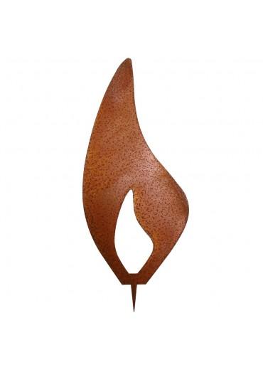 Rostige Kerzen Flamme modern H20