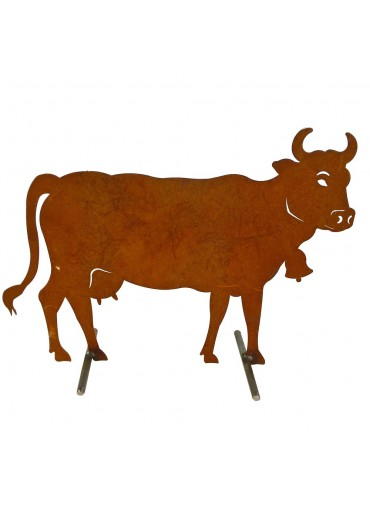 Edelrost Kuh L H50 cm