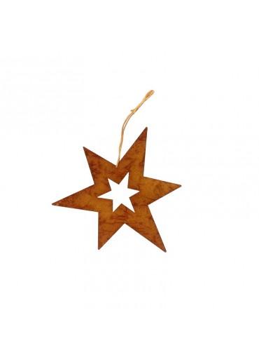 Rostiger Stern L offen