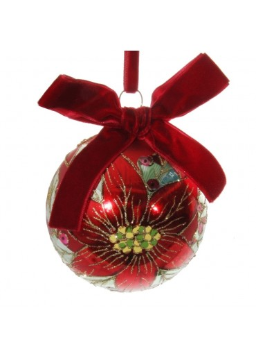 "Shishi Christbaumkugel ""Poinsettia"" L"