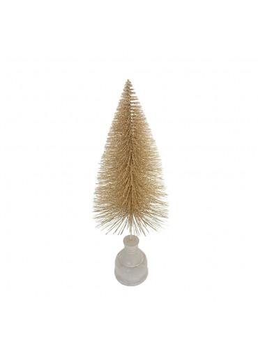 """Tannenbaum """"Glitter"""" champagner-gold mittel H 33 cm"""