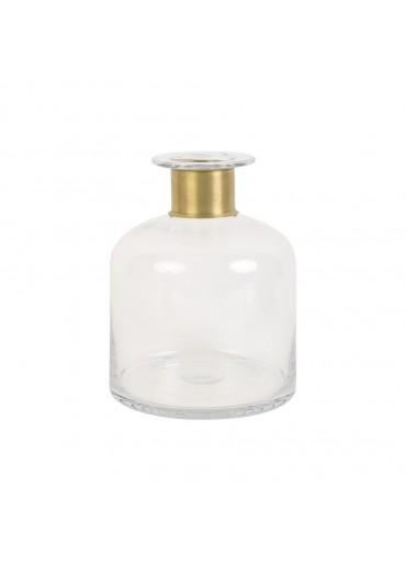 "Glas Vase ""Vimioso"" Messing mittelhoch"